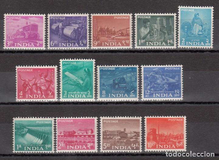 INDIA, 1955 YVERT Nº 54 / 66 /*/ (Sellos - Extranjero - Asia - India)
