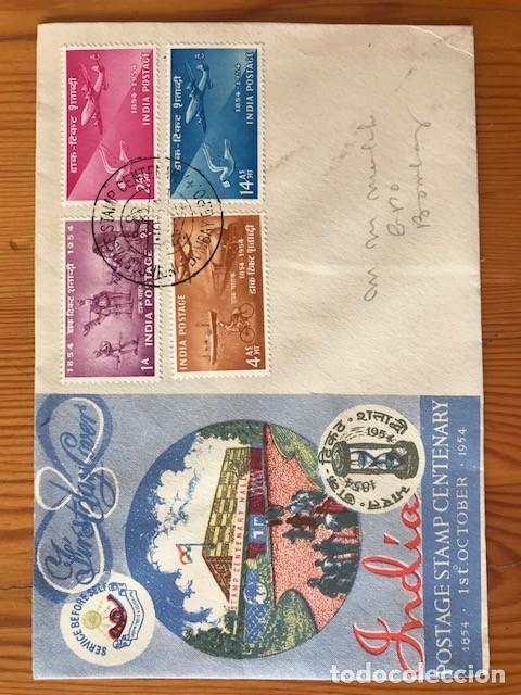 Sellos: 3 sobres de primer día de India de distintos años mas 1 folleto - Foto 2 - 204098596