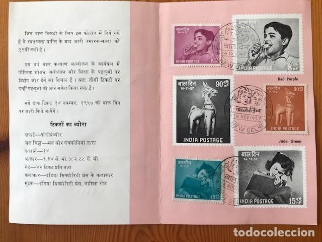 Sellos: 3 sobres de primer día de India de distintos años mas 1 folleto - Foto 6 - 204098596