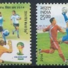 Sellos: INDIA 2014 MICHEL 2824/7 *** CAMPEONATO DEL MUNDO DE FUTBOL - DEPORTES. Lote 205013611