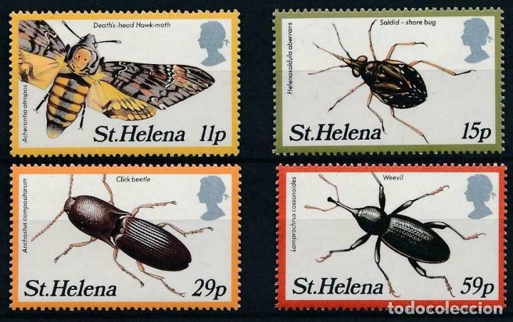 SANTA HELENA 1983 IVERT 373/6 *** FAUNA - INSECTOS (II) (Sellos - Extranjero - Asia - India)