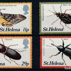 Sellos: SANTA HELENA 1983 IVERT 373/6 *** FAUNA - INSECTOS (II). Lote 205013841