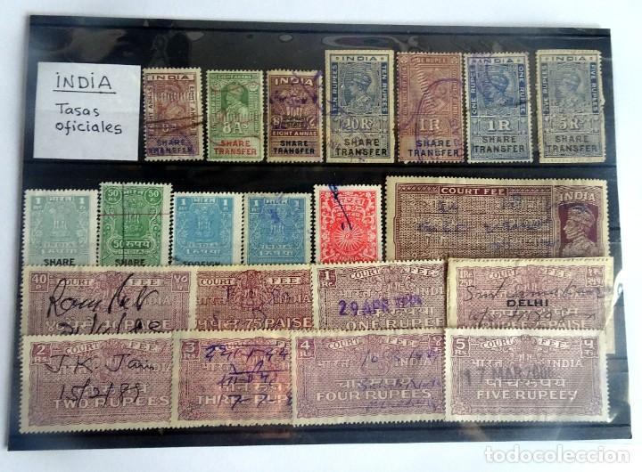 LOTE DE 21 , TASAS OFICIALES INDIA, VARIADAS, VER FOTOS (Sellos - Extranjero - Asia - India)