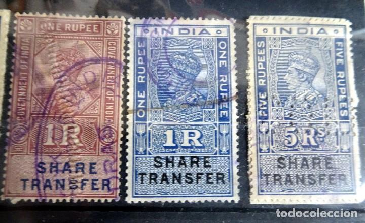 Sellos: LOTE DE 21 , TASAS OFICIALES INDIA, VARIADAS, VER FOTOS - Foto 2 - 205043025
