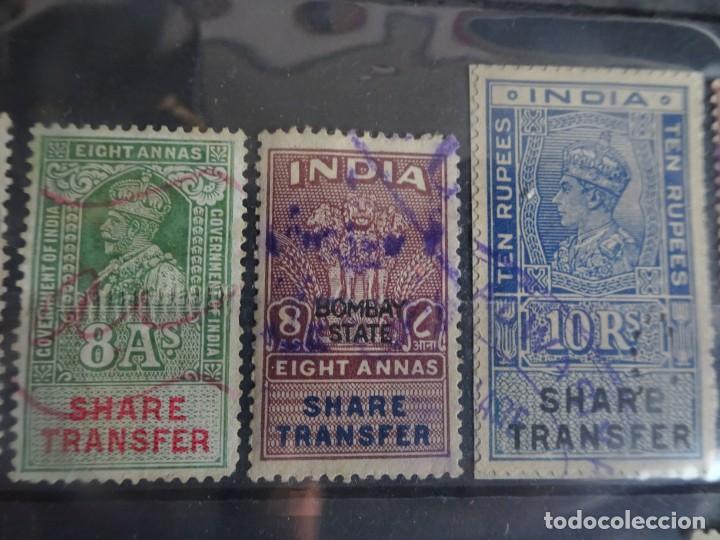 Sellos: LOTE DE 21 , TASAS OFICIALES INDIA, VARIADAS, VER FOTOS - Foto 3 - 205043025