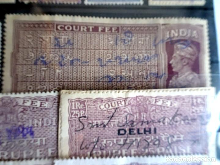 Sellos: LOTE DE 21 , TASAS OFICIALES INDIA, VARIADAS, VER FOTOS - Foto 4 - 205043025