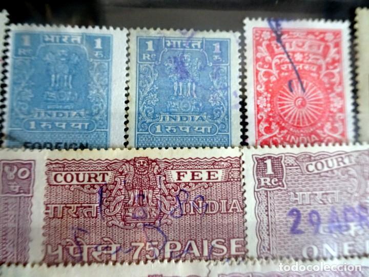 Sellos: LOTE DE 21 , TASAS OFICIALES INDIA, VARIADAS, VER FOTOS - Foto 5 - 205043025