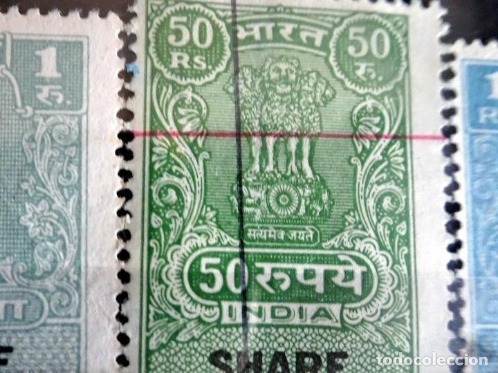Sellos: LOTE DE 21 , TASAS OFICIALES INDIA, VARIADAS, VER FOTOS - Foto 7 - 205043025