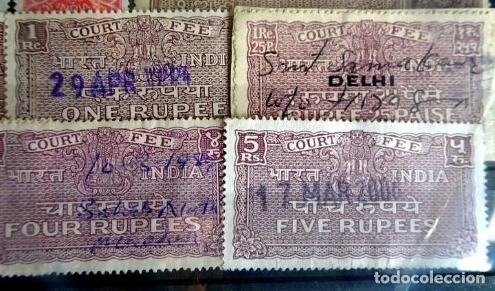 Sellos: LOTE DE 21 , TASAS OFICIALES INDIA, VARIADAS, VER FOTOS - Foto 9 - 205043025