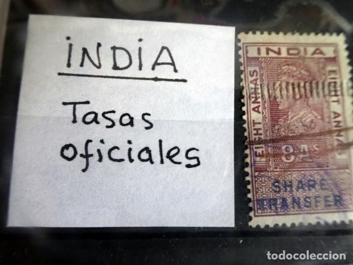 Sellos: LOTE DE 21 , TASAS OFICIALES INDIA, VARIADAS, VER FOTOS - Foto 10 - 205043025