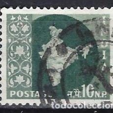 Timbres: INDIA 1957-58 - MAPA NACIONAL - SELLO USADO. Lote 207415653