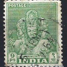 Selos: INDIA 1949 - EMBLEMAS NACIONALES, TRIMURTI - SELLO USADO. Lote 207416197