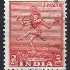 Selos: INDIA 1949 - EMBLEMAS NACIONALES, NATARAJA - SELLO USADO. Lote 207416310