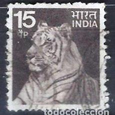 Timbres: INDIA 1974 - TIGRE - SELLO USADO. Lote 207417528