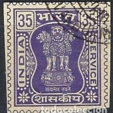 Sellos: INDIA 1981 - S.SERVICIO, CAPITAL DEL PILAR ASOKA, 35 PÚRPURA, IMPRESO - SELLO USADO. Lote 207431653