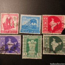 Sellos: 6 SELLOS DE INDIA AÑOS 1960. Lote 211892025