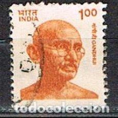 Sellos: INDIA Nº 1290, GHANDI, USADO. Lote 215189248