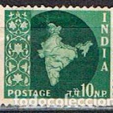 Sellos: INDIA Nº 295, MAPA DE LA INDIA, USADO. Lote 215198038