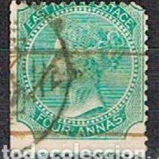 Sellos: INDIA Nº 24 (AÑO 1865), LA REINA VICTORIA, EMPERATRIZ DE LA INDIA USADO. Lote 215231291