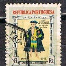 Sellos: INDIA PORTUGUESA Nº 510, 450 ANIVERSARIO DE LOS ENCLAVES PORTUGUESES EN INDIA, ALBUQUERQUE, USADO. Lote 215261682