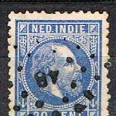 Sellos: INDIA HOLANDESA Nº 12 (AÑO 1870), EL REY GUILLERMO IIIUSADO. Lote 215262811