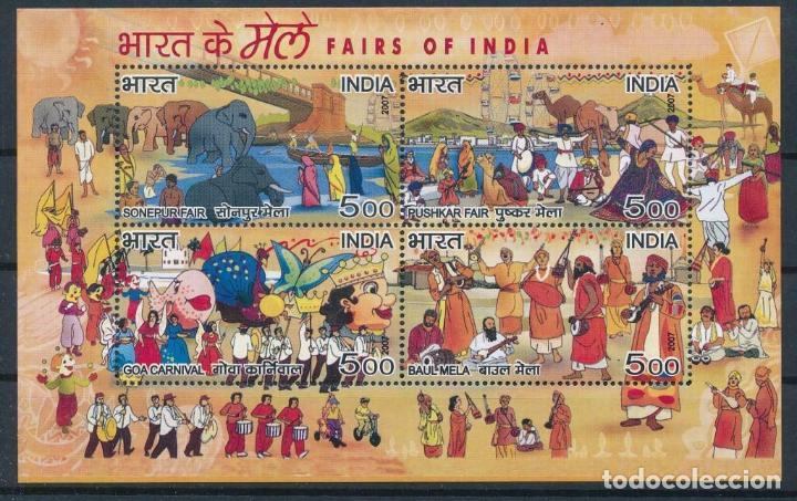 INDIA 2007 HB IVERT 40 *** FIESTAS Y FERIAS EN LA INDIA (Sellos - Extranjero - Asia - India)