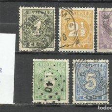 Sellos: 2778-INDIA HOLANDESA SERIE COMPLETA 32,50€ 1883 Nº17/22 USADOS CLASICOS.. Lote 218097301
