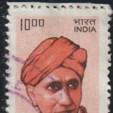 Sellos: INDIA 2009 SCOTT 2284 SELLO º PERSONAJES C. V. RAMAN MICHEL 2371 YVERT 2163A STAMPS TIMBRE. Lote 218483420