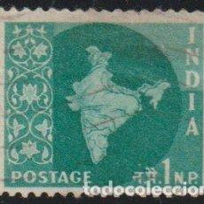 Sellos: INDIA 1957 SCOTT 275 SELLO º MAPA DE LA INDIA MAP MICHEL 259 YVERT 71 STAMPS TIMBRE INDE BRIEFMARKE. Lote 218487823