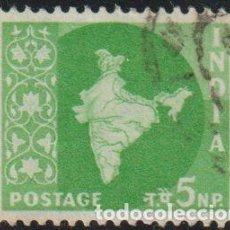 Sellos: INDIA 1957 SCOTT 278 SELLO º MAPA DE LA INDIA MAP MICHEL 262 YVERT 74 STAMPS TIMBRE INDE BRIEFMARKE. Lote 218487842
