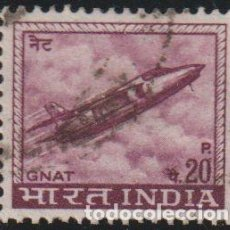 Sellos: INDIA 1967 SCOTT 413 SELLO º AVION JET FIGHTER INDUSTRIA DE LA AVIACIÓN GNAT MICHEL 436X YVERT 226. Lote 218530223