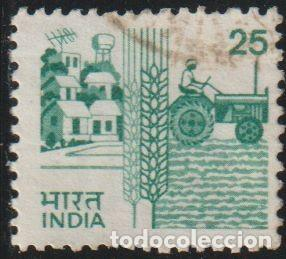 Sellos: India 1985 Scott 840B Sello º Agricultura Tractor Michel 1028 Yvert 844 Stamps Timbre Inde Briefmark - Foto 1 - 218530428