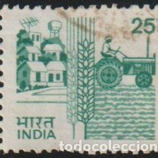 Sellos: INDIA 1985 SCOTT 840B SELLO º AGRICULTURA TRACTOR MICHEL 1028 YVERT 844 STAMPS TIMBRE INDE BRIEFMARK. Lote 218530428