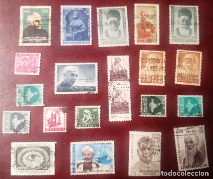 INDIA. LOTE 21 SELLOS USADOS (Sellos - Extranjero - Asia - India)