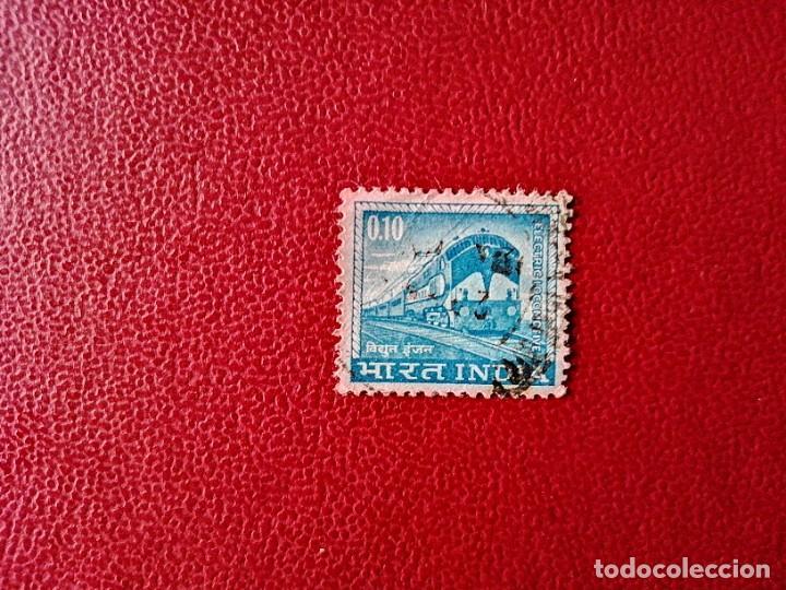 INDIA - VALOR FACIAL 0,10 - TREN - FERROCARRIL (Sellos - Extranjero - Asia - India)