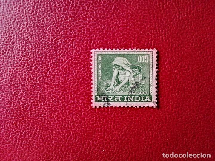 INDIA - VALOR FACIAL 0,15 - RECOLECCIÓN DEL TÉ (Sellos - Extranjero - Asia - India)