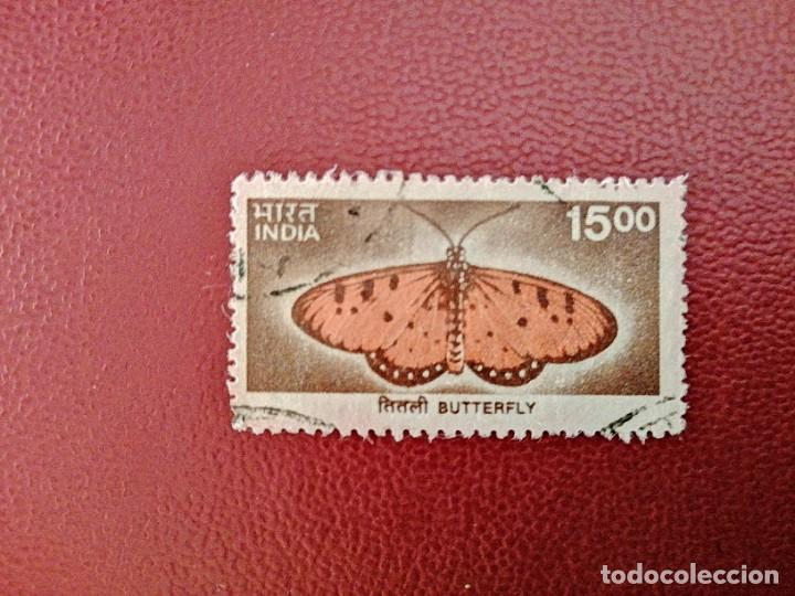 INDIA - VALOR FACIAL 15,00 - BUTTERFLY - MARIPOSA (Sellos - Extranjero - Asia - India)