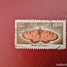 Sellos: INDIA - VALOR FACIAL 15,00 - BUTTERFLY - MARIPOSA. Lote 221396480