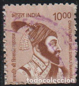 INDIA 2016 SCOTT 2802 SELLO º PERSONAJES CH. SHRI SHIVAJI MAHARAJ (1630[?]-1680) LIDER HINDU MI 2934 (Sellos - Extranjero - Asia - India)
