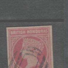 Sellos: LOTE (4) SELLO DE ENTERO POSTAL HONDURAS BRITANICA SIGLO XIX. Lote 222784133