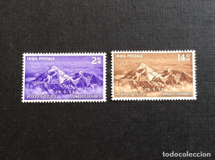 INDIA Nº YVERT 44/5*** AÑO 1953. CONQUISTA DEL MONTE EVEREST (Sellos - Extranjero - Asia - India)