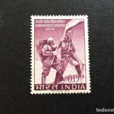 Selos: INDIA Nº YVERT 190*** AÑO 1965. EXPEDICION HINDU AL MONTE EVEREST. Lote 224130250