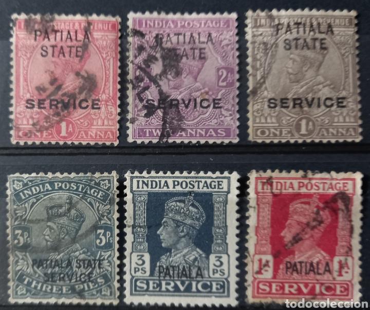 Sellos: Colección de sellos de Patiala, India - Foto 2 - 234785250