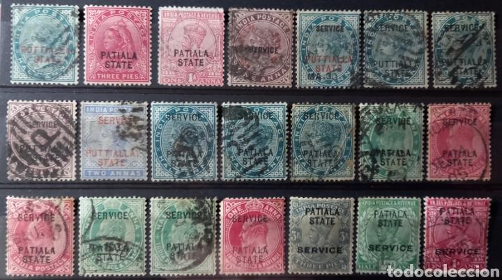 COLECCIÓN DE SELLOS DE PATIALA, INDIA (Sellos - Extranjero - Asia - India)