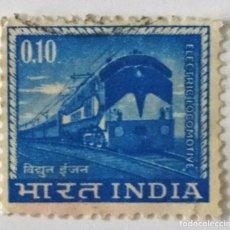 Sellos: SELLO DE INDIA 0,10 - 1966 - TREN ELECTRICO - USADO SIN SEÑAL DE FIJASELLOS. Lote 238662070