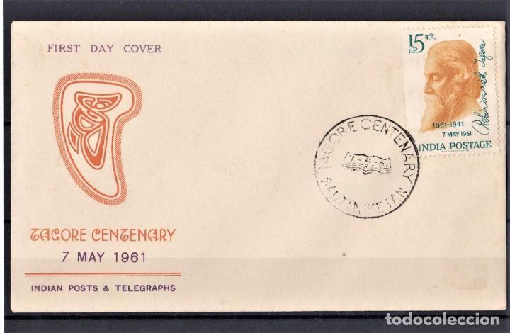 INDIA 1961 SOBRE DE PRIMER DÍA (Sellos - Extranjero - Asia - India)
