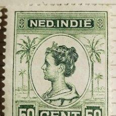Timbres: SELLO INDIAS ORIENTALES NEERLANDESAS 1914 REINA GUILLERMINA 50 CÉNTIMO. Lote 249239685