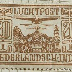 Timbres: SELLO INDIAS ORIENTALES NEERLANDESAS 1928 AEROPLANOS SOBRE EL TEMPLO 20 CÉNTIMO. Lote 249249250