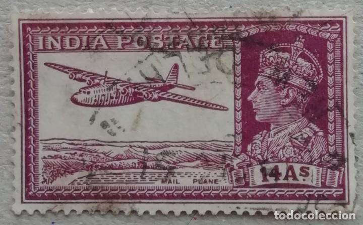 1937. INDIA-BRITÁNICA. 154-A. AVIÓN. EFIGIE DEL REY JORGE V. USADO. (Sellos - Extranjero - Asia - India)
