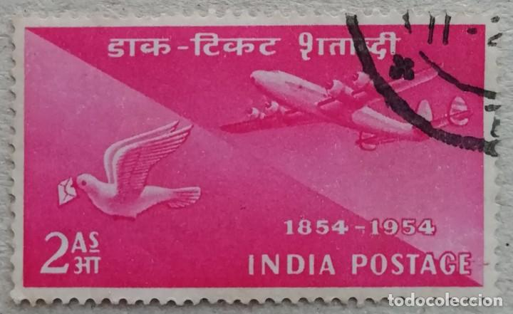 1954. INDIA. A-49. TRANSPORTES AÉREOS EN LA INDIA. SERIE COMPLETA. USADO. (Sellos - Extranjero - Asia - India)